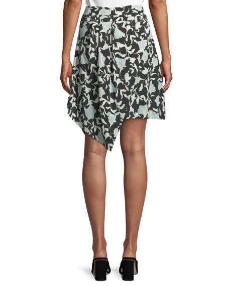 Image 2 of 2: Christian Wijnants Sadira Floral Embroidered Asymmetric Skirt
