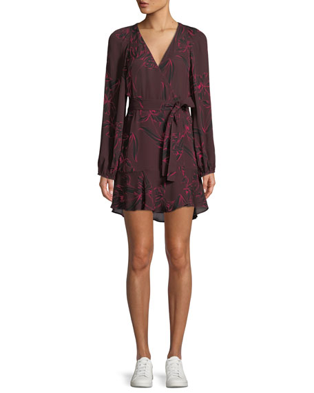 A.L.C. Embry Floral-Print Silk Mini Wrap Dress