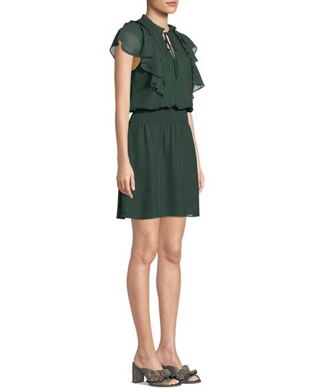 Remington Combo Ruffle Short Dress