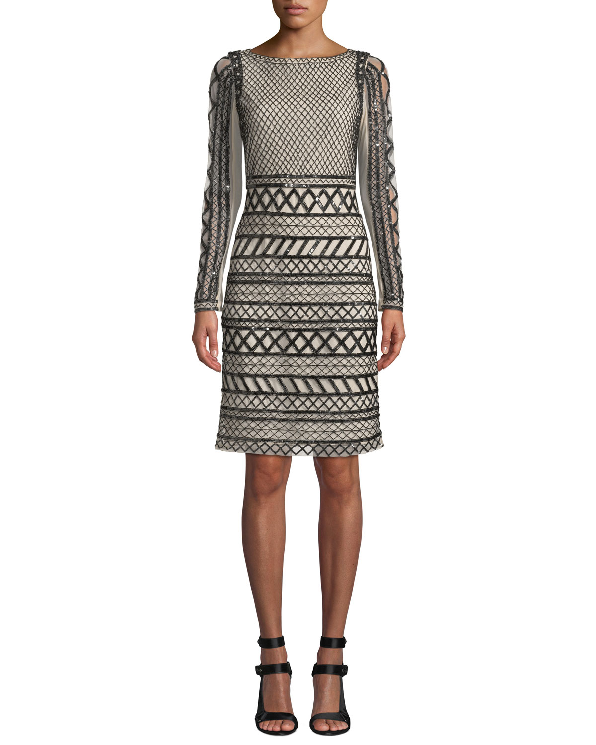 8896ab30d33 Alice + Olivia Tabitha Embellished Fitted Dress