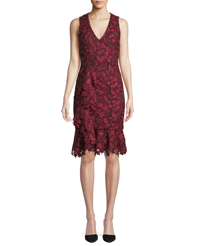 8bdcf8eb2fe Alice + Olivia Katia Ruffle-Front Fitted Dress
