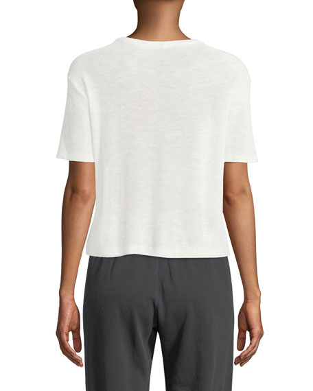 Image 2 of 2: Monrow Mesh Scoop-Neck Athletic Tee