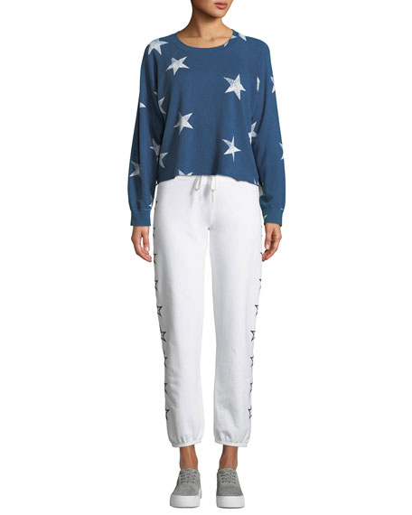 Super-Soft Vintage Sweatpants with Stars