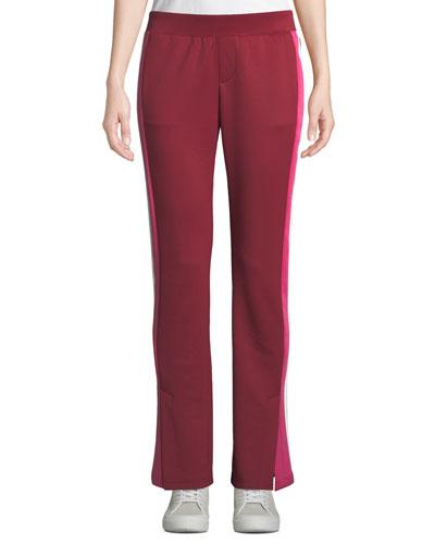 Double-Stripe Scuba Track Pants