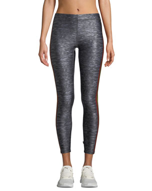 5798e1051197d Terez Cropped Side-Stripe Performance Leggings