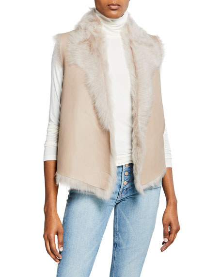 Gushlow and Cole Down Reversible Rough Cut Sheepskin Vest