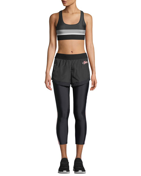 5fab6074666f7 PE Nation Long Lift Two-in-One Performance Leggings with Shorts ...