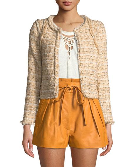 Iro Disco Knit Open-Front Jacket