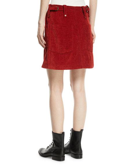 McQ Alexander McQueen Major Patch-Pocket Short Skirt