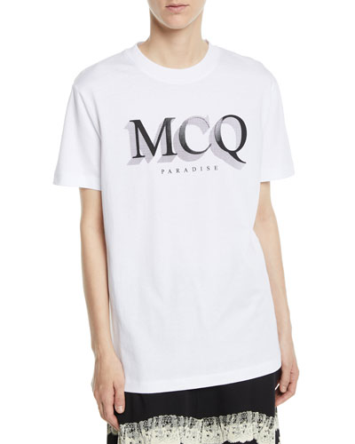 Short-Sleeve Logo Crewneck Band Tee