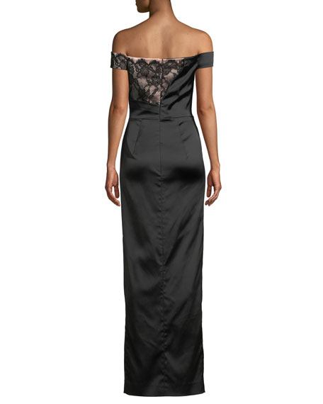 Milly Soaran Off-the-Shoulder Dress w/ Lace