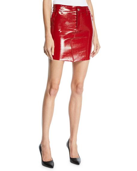 RtA Callie Patent Leather Mini Skirt