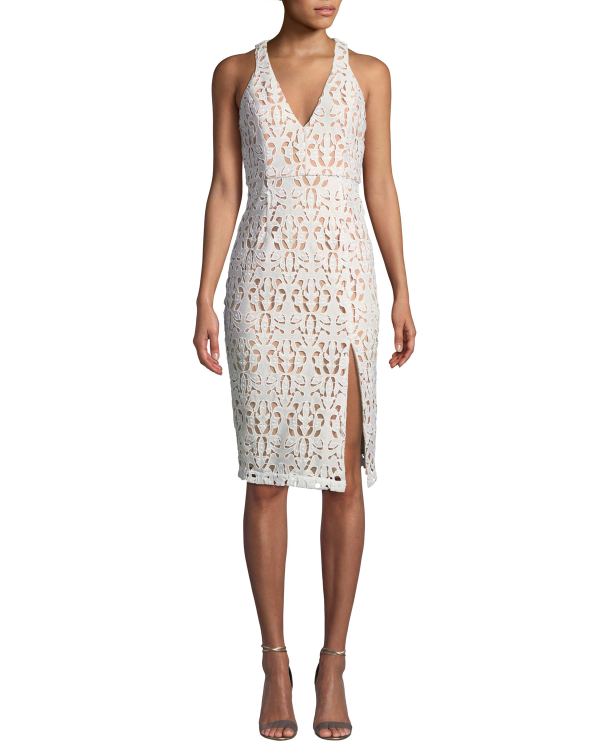 Aijek Womens Eyelet Halter Dress
