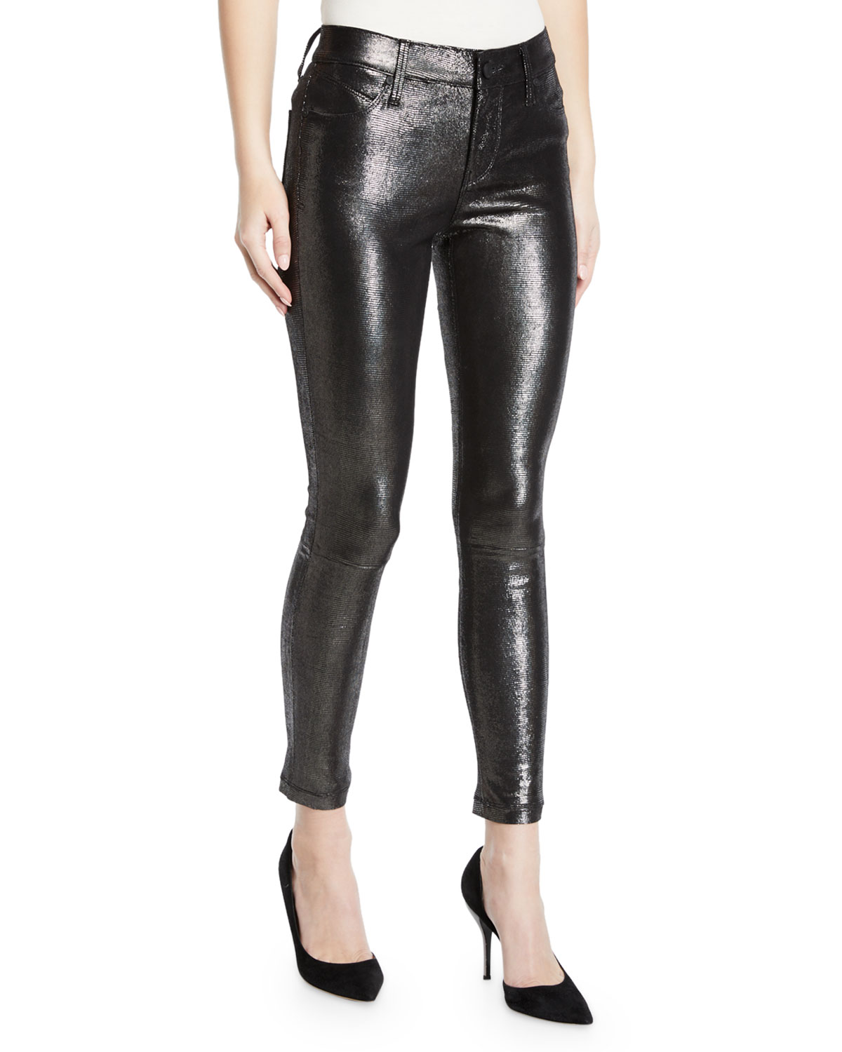 another chance better price rock-bottom price Prince Metallic Leather Skinny Pants