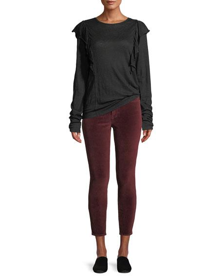 FRAME Le Velveteen High-Rise Skinny Jeans