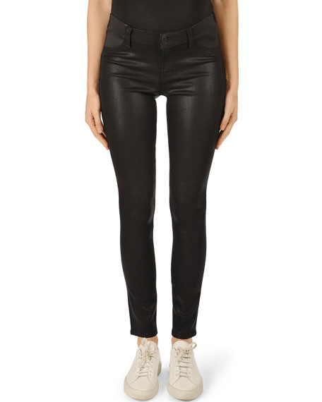 J Brand Mama J Super Skinny Coated Maternity