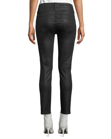 Jen7 by 7 for All Mankind Riche Touch Coated Ankle Skinny Jeans