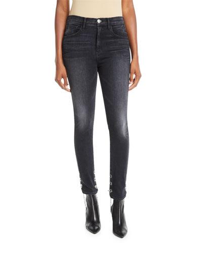 Bijou Chain-Stirrup Skinny Jeans