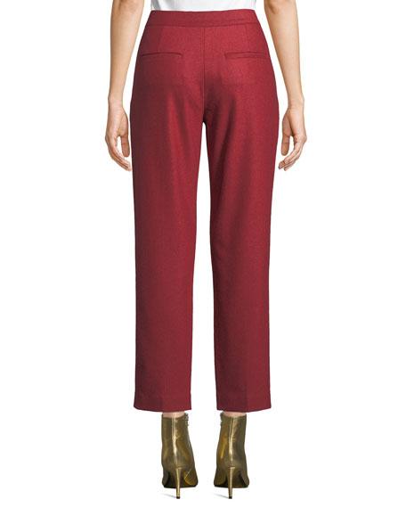 Rag & Bone Poppy Straight-Leg Cropped Wool Pants