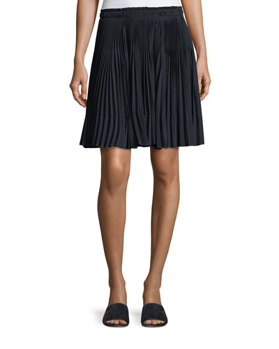 Multi-Pleated Short Skirt