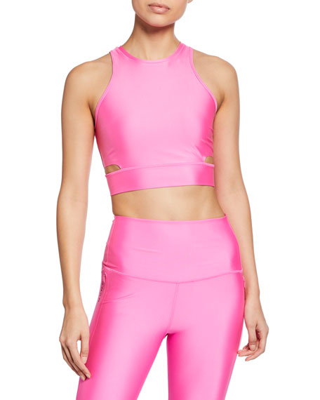 High-Neck Cropped Training Tank