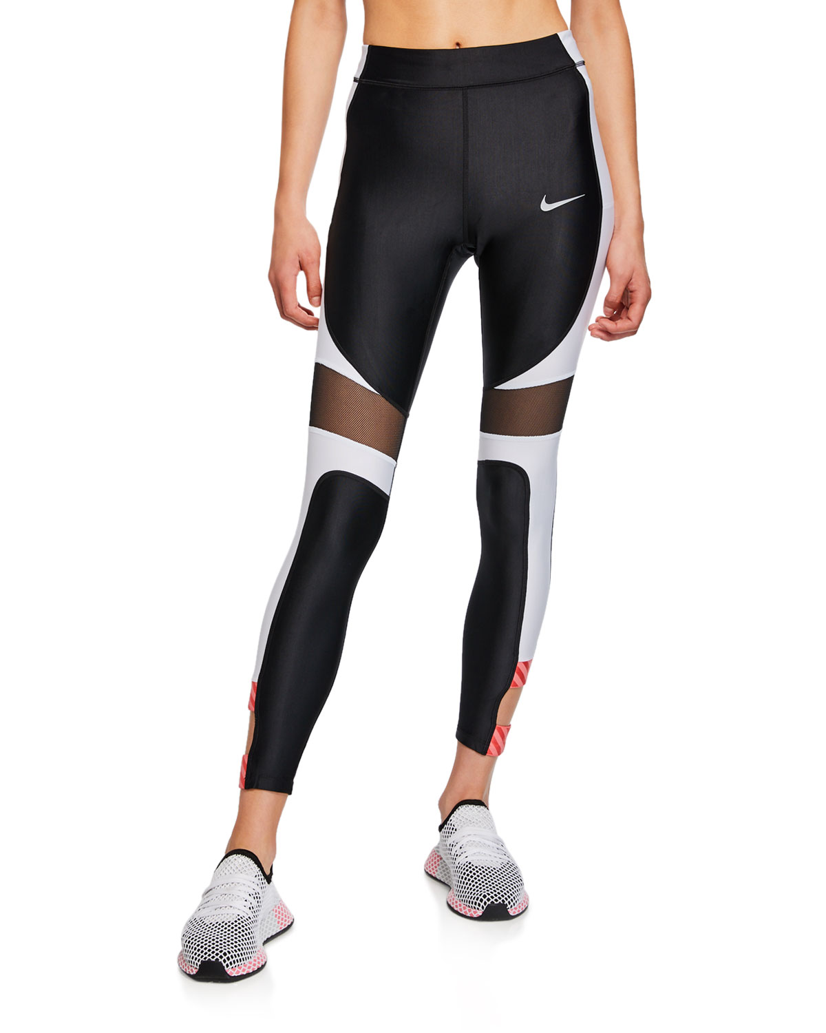 b8e7e198deb78 Nike Speed Colorblock 7/8 Performance Tights | Neiman Marcus