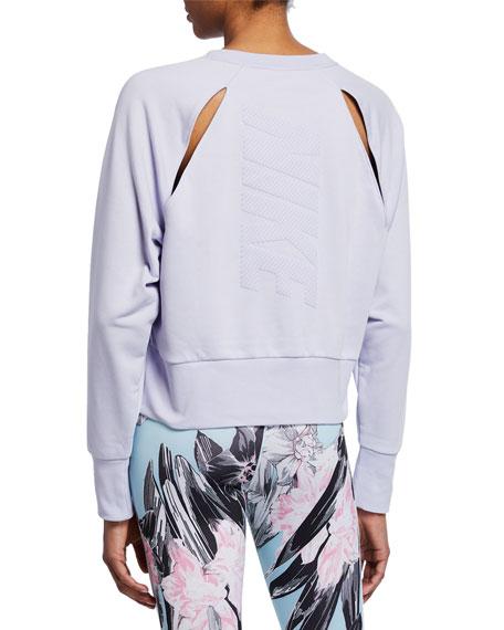 Nike Dri-Fit Versa GRX Crewneck Raglan-Sleeve Crop Top