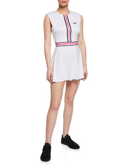 Nike NikeCourt Sleeveless Tennis Dress, White
