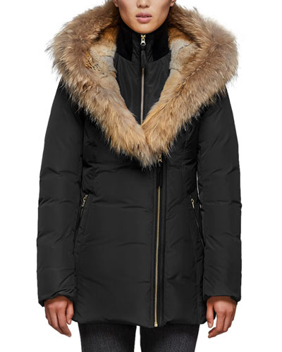 Akiva Waterproof Down Coat w/ Fur Hood