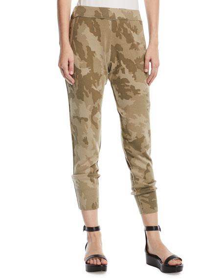 ATM Anthony Thomas Melillo Camo-Print Cotton Jogger Pants