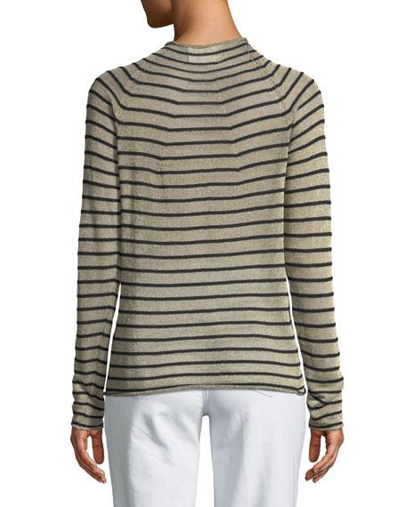 Forte Forte High-Neck Metallic Striped Wool Sweater