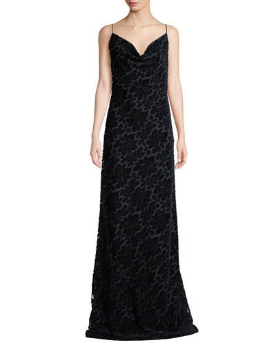 Besette Devore Sleeveless Slip Dress