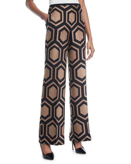 Trina Turk Kern 2 Wide-Leg Pants in Geometric