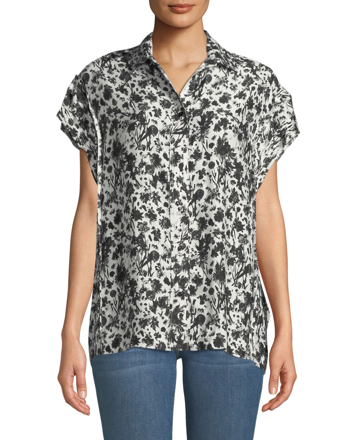 e43b176f Iro Tour Printed Short-Sleeve Button-Down Shirt | Neiman Marcus