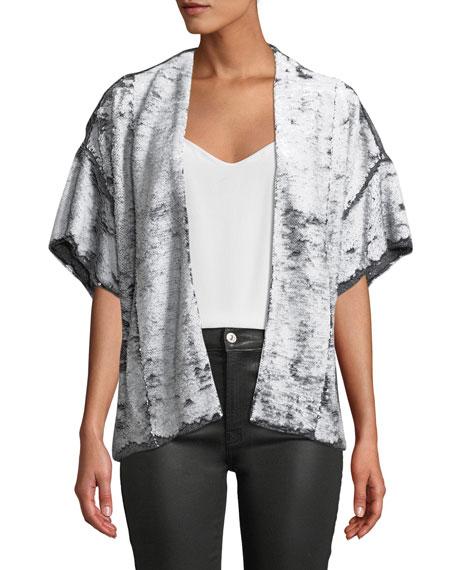 Iro Zeliespe Sequined Short-Sleeve Jacket