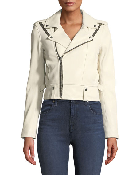 Ozark Zip-Front Semi-Fitted Lamb Jacket