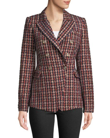 CAMILLA AND MARC Tilda Tweed Blazer in Plaid
