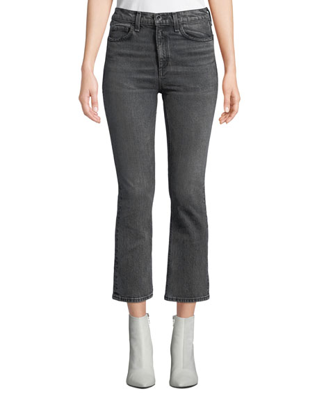 Rag & Bone Hana High-Rise Cropped Boot-Cut Jeans