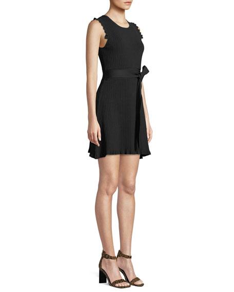 Parker Renata Ribbed Crewneck Short Dress