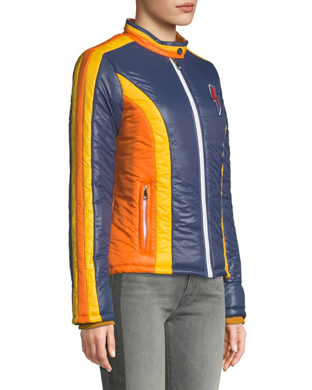 MOTHER The High Flyer Zip-Front Puffer Jacket