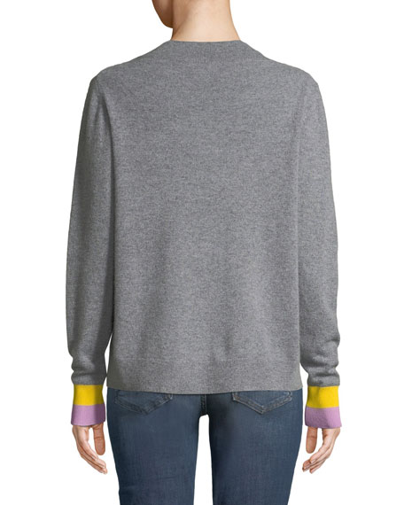 Kule The Moore Cashmere Crewneck Pullover Sweater