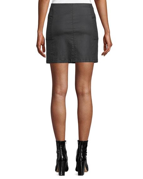 Rebecca Minkoff Emery Zip-Fly Denim Mini Skirt