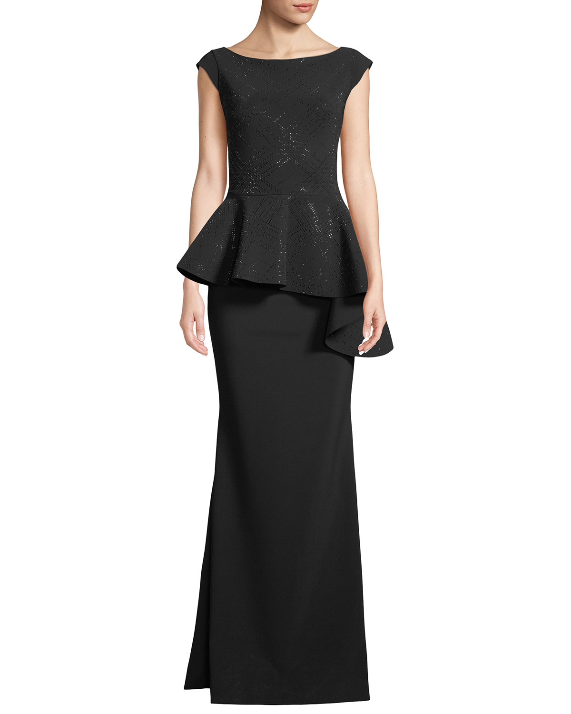 Chiara Boni La Petite Robe Etheline Beaded Cap-Sleeve Asymmetric ...