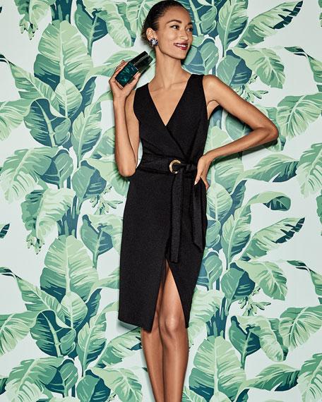 Badgley Mischka Collection V-Neck Sleeveless Wrap Dress