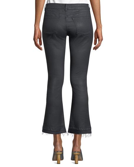 DL1961 Premium Denim Lara Mid-Rise Instasculpt Coated Boot-Cut Jeans