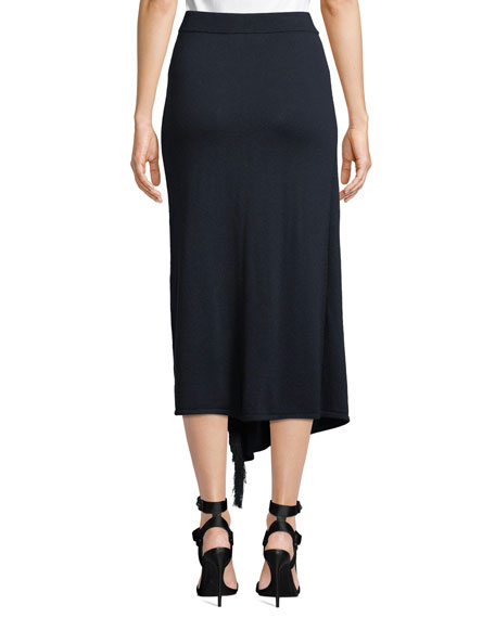 Tabula Rasa Kahina Draped Fringe Midi Skirt