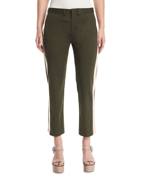 Le Superbe Honore Cropped Pants with Side-Stripes
