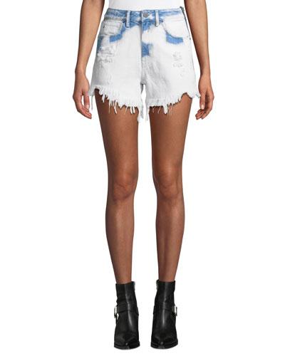 Bite Side-Zip Denim Cutoff Shorts