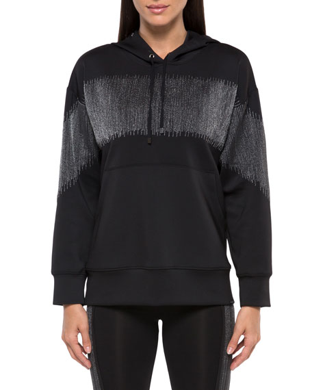 Image 1 of 3: Koral Titrate Scuba Metallic Pullover Hoodie