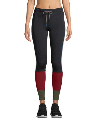 Saratoga Paneled Drawstring Yoga Pants